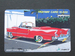 JAPAN HIGHWAY PREPAIDCARD - CAR DESERT CONVERTIBLE - Giappone