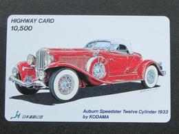 JAPAN HIGHWAY PREPAIDCARD - CAR AUBURN SPEEDSTER 1933 - Giappone