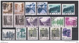CINA:  1981/86  DEFINITIVA  -  LOTTICINO  18  VAL. US. -  YV/TELL. 2464//2783 - 1949 - ... Repubblica Popolare