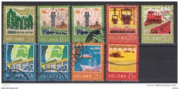 CINA:  1977  DEFINITIVA  -  9  VAL. US. -  YV/TELL. 2066//2114 - Usati