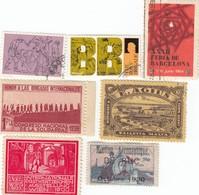 12441-N°. 7 CHIUDILETTERA FRANCIA-MALTA-AUSTRIA-SPAGNA-REGNO UNITO-NUOVI-USATI - Erinnofilia
