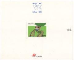 PORTOGALLO !!! 1993 FOGLIETTO CONGRESSO MONDIALE FERROVIE !!! - Blocchi & Foglietti