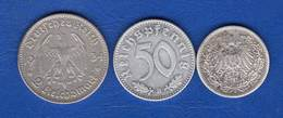 All  50  Pf  All 1939 B  +  2  Pieces  Arg - [ 4] 1933-1945 : Third Reich