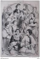 Exposition Universelle 1867 - Types De Femmes Des Différentes Pays Avec Leurs Costumes Nationaux - Page Original 1867 - Documents Historiques