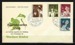 BERLIN FDC Mi-Nr. 193 - 196 Hilfswerk Berlin - Ferienplätze Für Berliner Kinder - Berlin (West)