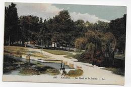 (RECTO / VERSO) AMIENS - N° 100 - LES BORDS DE LA SOMME AVEC ENFANTS - CPA VOYAGEE - Amiens