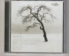Cd  Martynov  LAMENTATIONS OF JEREMIAH   Etat: TTB Port 110 GR - Classical