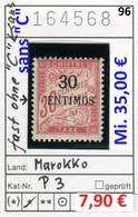 Frankreich - France - Francia - Marokko / Maroc - Michel Porto / Taxe 3 - * Mh Charn. - Marokko (1891-1956)