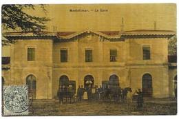 Montelimar La Gare Carte Toilée Couleur - Montelimar