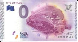 Billets Touristique 0 Euro 2015 Cité Du Train Nr 1503 Neuf - Fictifs & Spécimens