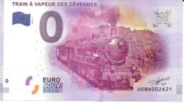 Billets Touristique 0 Euro 2016  Train A Vapeur Des Cevennes Nr 2621 Neuf - Fictifs & Spécimens