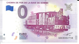 Billets Touristique 0 Euro 2018 Chemin De Fer De La Baie De Somme  Nr 2738 Neuf - Fictifs & Spécimens