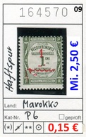 Frankreich - France - Francia - Marokko / Maroc - Michel Porto / Taxe 6 - * Mh Charn. - Marokko (1891-1956)