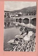 OUDE KAART  ZWITSERLAND - SCHWEIZ - SUISSE -   PONTE TRESA - WASSENDE VROUWEN - TI Ticino