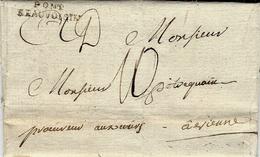 """1783- Lettre De PONT / BEAUVOISIN  """" Procureurs Auxiliaires """"  Taxe 10 Sous Pour Vienne ( Drôme ) - 1701-1800: Vorläufer XVIII"""