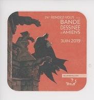 Enrico Marini - BatMan 2019 24è Festival Bande Dessinée Amiens On A Marché Sur La Bulle (sous-bock) - Bandes Dessinées