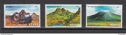 2007 Kenya Mountains Of East Africa DIFFICULT TO FIND  Complete Set Of 3 MNH - Kenia (1963-...)