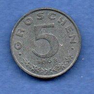 Autriche  -  5 Groschen 1958   -  Km # 2875  -  état  SUP - Autriche