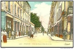 (42)  - BELLE CPA DE  ROANNE - L HOTEL DES POSTES ET RUE DE LA Côte 1930 -  Bb-863 - Roanne