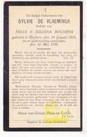 DP Sylvie De Vlaeminck / Boldens ° Egem Pittem 1855 † 1930 - Images Religieuses