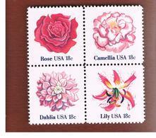 STATI UNITI (U.S.A.) -   SG 1846.1849  -   1981 FLOWERS (COMPLET SET OF 4 SE-TENANT)  - MINT** - Nuovi