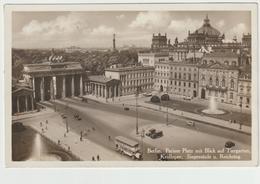105-Berlino-Germania Reich-Porta Brandeburgo Animata Auto-v.1933 X Roma-Bollo A Targhetta - Porte De Brandebourg