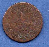 Autriche  - 1 Kreuzer 1812 B  -  Km # 2112  -  état  B - Austria