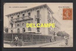DD / 70 HAUTE SAÔNE / LUXEUIL LES BAINS / L' HÔTEL MÉTROPOLE / ANIMÉE / 1928 - Luxeuil Les Bains