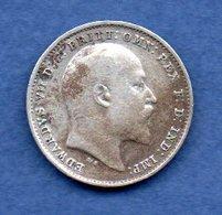 Grande Bretagne - 3 Pence 1908  -  Km # 813  -  état  TB - F. 3 Pence