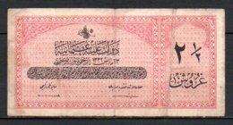 624-Turquie Billet De 2,5 Piastres 1332 E702 - Turquie