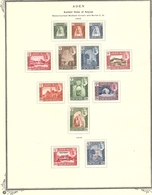 ADEN - KATHIRI STATE OF SEIYUN 1942 - 1953 MINT COLLECTION ON 2 ALBUM PAGES - Aden (1854-1963)