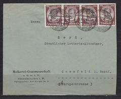 Dt.Reich Fernbrief Tönnishäuschen/11.10.34 Mit 4x 540ya Nach Coesfeld Gpr - Allemagne