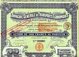 COMPAGNIE GENERALE DE TRANSPORTS ECONOMIQUES - Chemin De Fer & Tramway