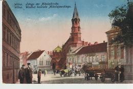 79-Militaria-Austria-1^ Guerra-P.M.n.274 Del 7.11.17 Su Cartolina Di Wilna-Animata Carri - Guerra 1914-18