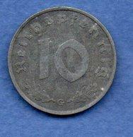 Allemagne- 10 Reichspfennig 1940 G -  Km # 101 -  état  TB+ - 5 Reichspfennig