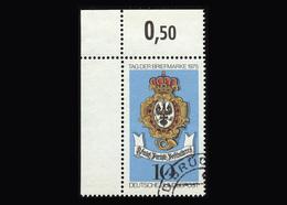 BRD 1975, Michel-Nr. 866, Tag Der Briefmarke, 10 Pf., Eckrand Oben Links, Gestempelt, - BRD