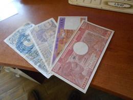 FRANCE  CONGO  01 01.1983  MADAGASCAR    OLD  BILLETS  LOT    -  20 - 50 - 500  -5000  FRANCS  VERY  RARE - 50 F 1976-1992 ''Quentin De La Tour''