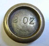 Monnaie. 62. Mesure, Poids En Laiton De 2 OZ. Crane. Poinçon Au Verso. - Coppers