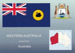 1 AK Western Australia * Die Karte Zeigt Die Flagge, Das Wappen Und Die Position Von Western Australia In Australien * - Sonstige