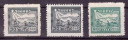 Chine - Guerre Civile - Est 1949 - MNG - Poste - Trains - Michel Nr. 50A 50C 52 (chn160) - Western-China 1949-50