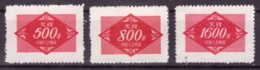Chine 1954 - MNG - Timbres-taxe Michel Nr. 12-14 (chn170) - 1949 - ... République Populaire