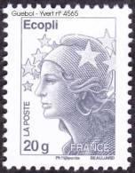 France Marianne De Beaujard N° 4565,a ** Le 20 Gr.TVP Gris Gommé, Sans Bande De Phosphore - Bonnet Phrygien, Etoile - 2008-13 Maríanne De Beaujard