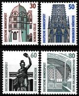 Série De 4 Timbres-poste Gommés Neufs**  Série Courante Curiosités - N° 1166-1167-1168-1169 (Yvert) - RFA 1987 - [7] Federal Republic
