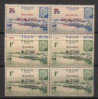 Togo - 1944 - N°Yv. 226 à 227 - Oeuvres Coloniales - Blocs De 4 - Neuf Luxe ** / MNH / Postfrisch - Unused Stamps