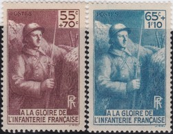 France  .    Yvert     .   386/387      .     **   .     Neuf  SANS  Charniere  .   /   .  MNH - France