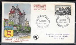 FDC 1955 - 1040  Série Touristique: Uzerche (Limousin) - FDC