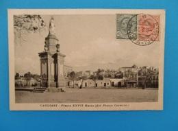 CPA CAGLIARI PLAZZA CARMINE 1922 - Italie