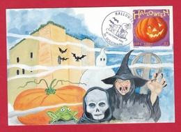 59 – BOUCHAIN – Halloween La Citrouille – Oblitération Temporaire Du 31 Octobre 2003 - Bouchain