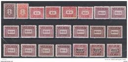 CINA:  1944/48  TASSE  -  LOTTICINO  22  VAL. N.G./L.-  YV/TELL. 65//85 - 1949 - ... Repubblica Popolare