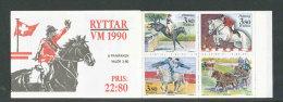 SUEDE 1990 - CARNET  YT C1583 - Facit H405 - Neuf ** MNH - Jeux Mondiaux équestre - Carnets